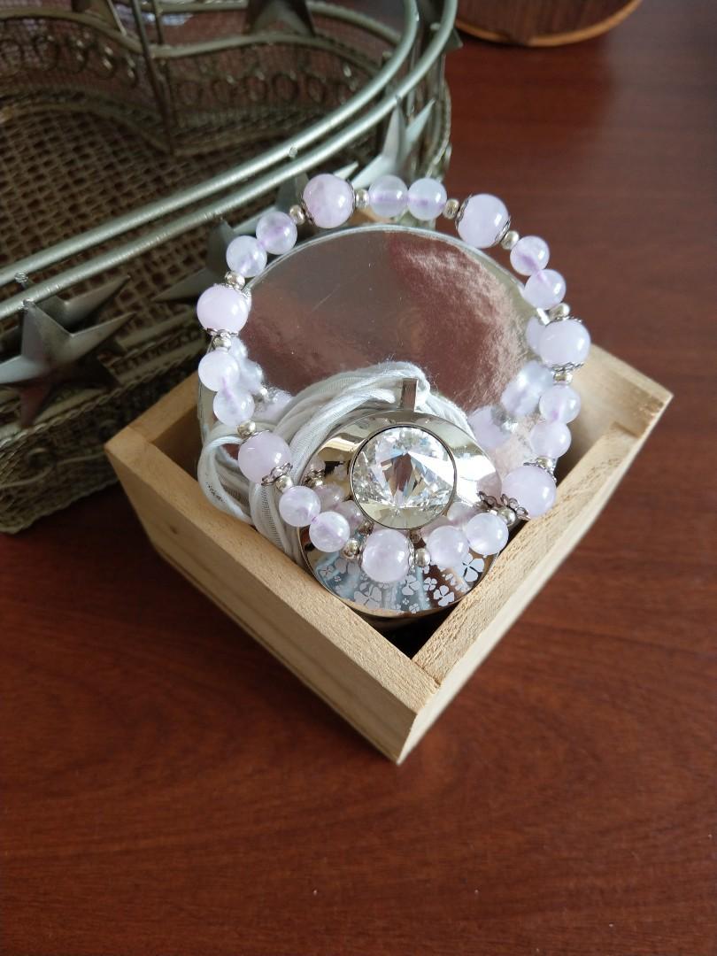 ♪粉晶♪- 天然粉水晶設計款手珠/手鍊