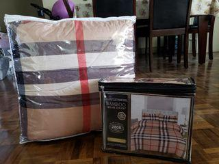 Available to pick up. Sheet, comforter duvet cover