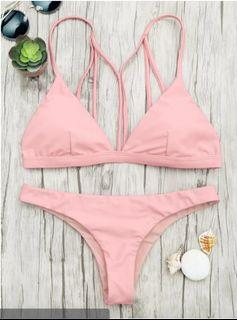 BNWT Padded Back Strappy Bathing Suit - Shallow Pink