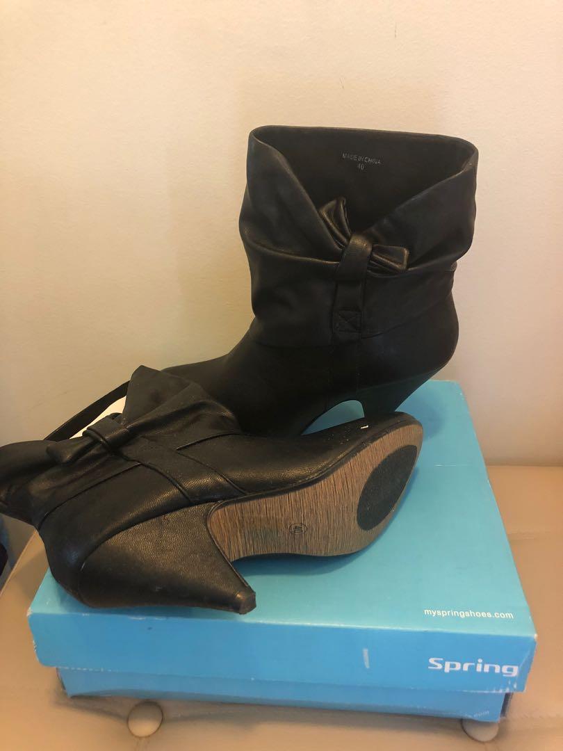 Brand New Black Booties Spring