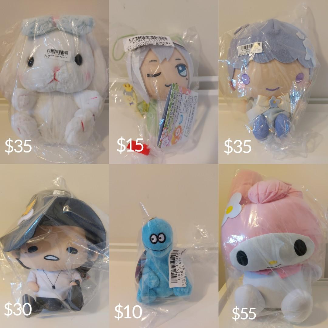 **BRAND NEW IN ORIGINAL PACKAGING** Plush/Figures for Sale!