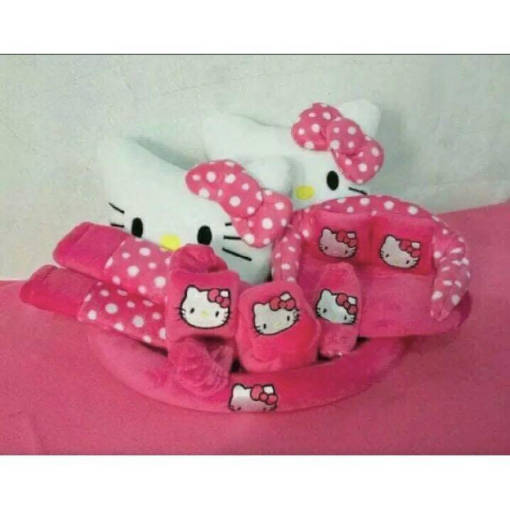 Car Seat / Bantal Mobil 9 in 1 Hello Kitty Pink