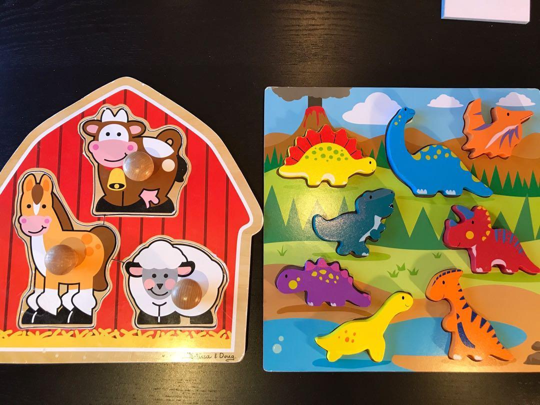 Dinosaur puzzle / Melissa & Doug knob puzzle