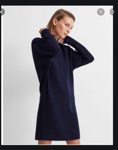 [REDUCED] Club Monaco: Wool Sweater Dress (XS-Navy)