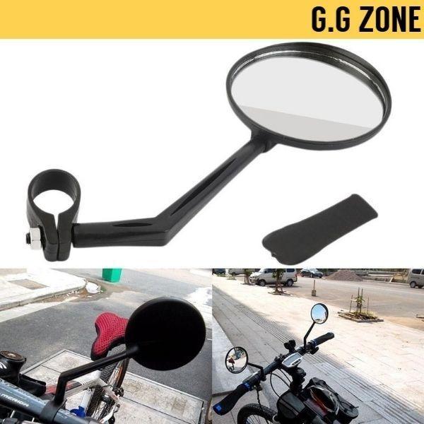360° Adjustable Bike Handlebar Rearview Motorcycle Glass Bicycle Flat Mirror