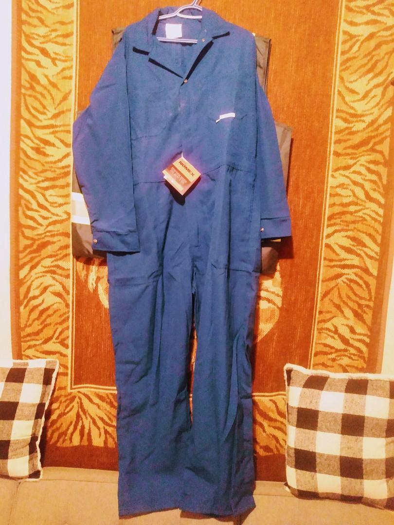 Men's blue coveralls