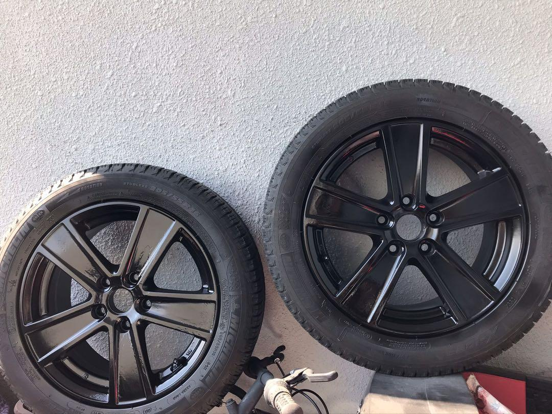 Michelin winter tires with black 16inch rims