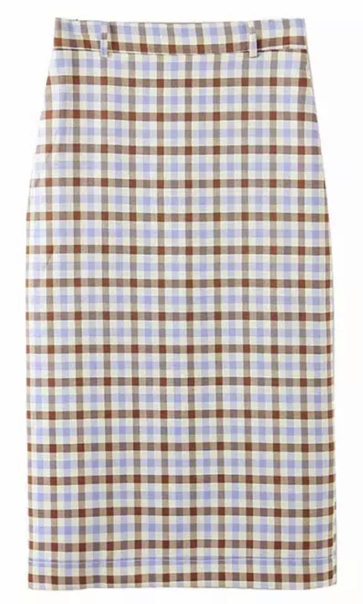 BNWT Purple Brown Plaid Skirt