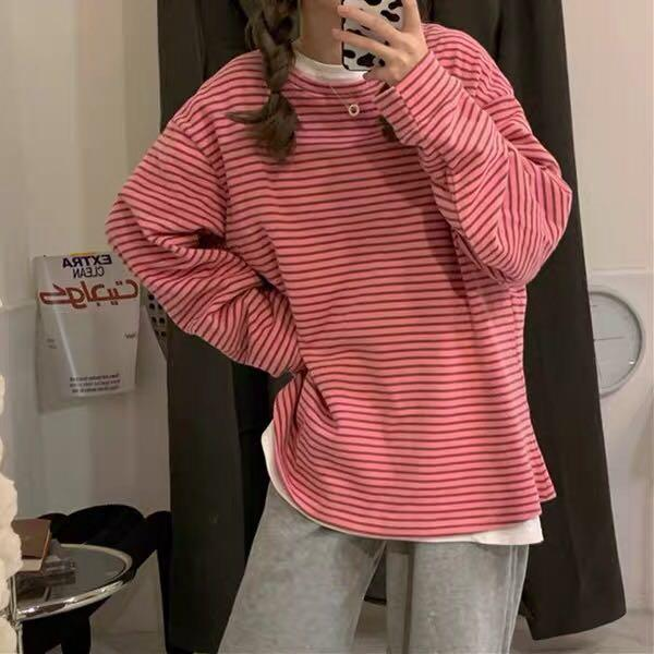 Pink/blue sweatshirt