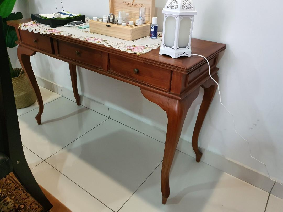 Premium Solid Teak Console Table Home Furniture Furniture On Carousell