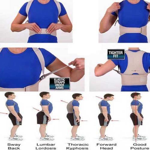 Sabuk punggung badan belt spinal spine tegak lurus tulang belakang Body back postur corrector