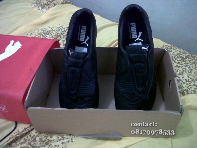 Sepatu Puma preloved v1.10 top trainer black edition
