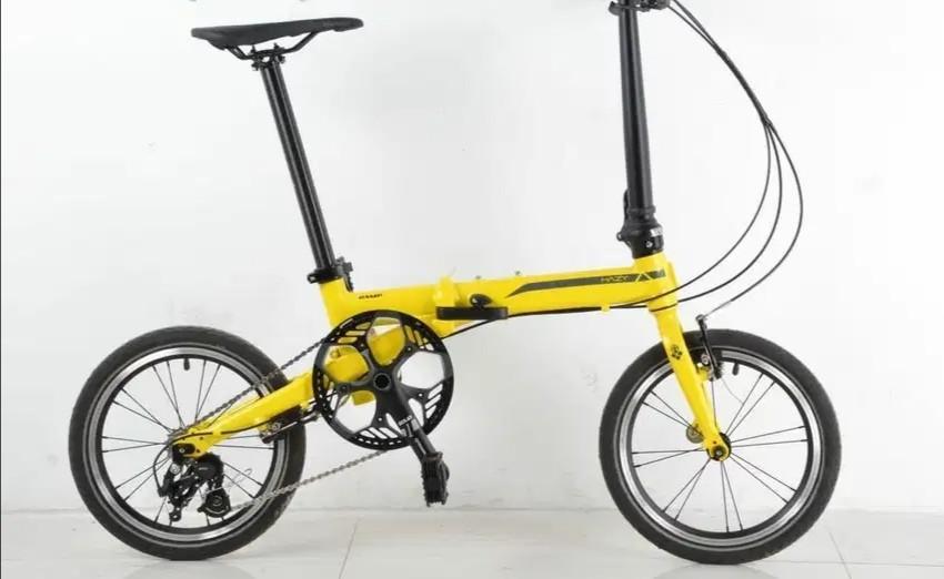 Sepeda Lipat CAMP HAZY 3SP warna kuning