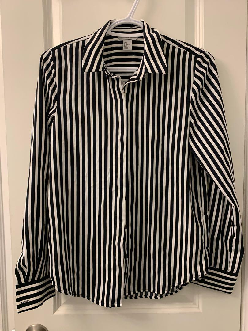Striped Collard Shirt Size 0