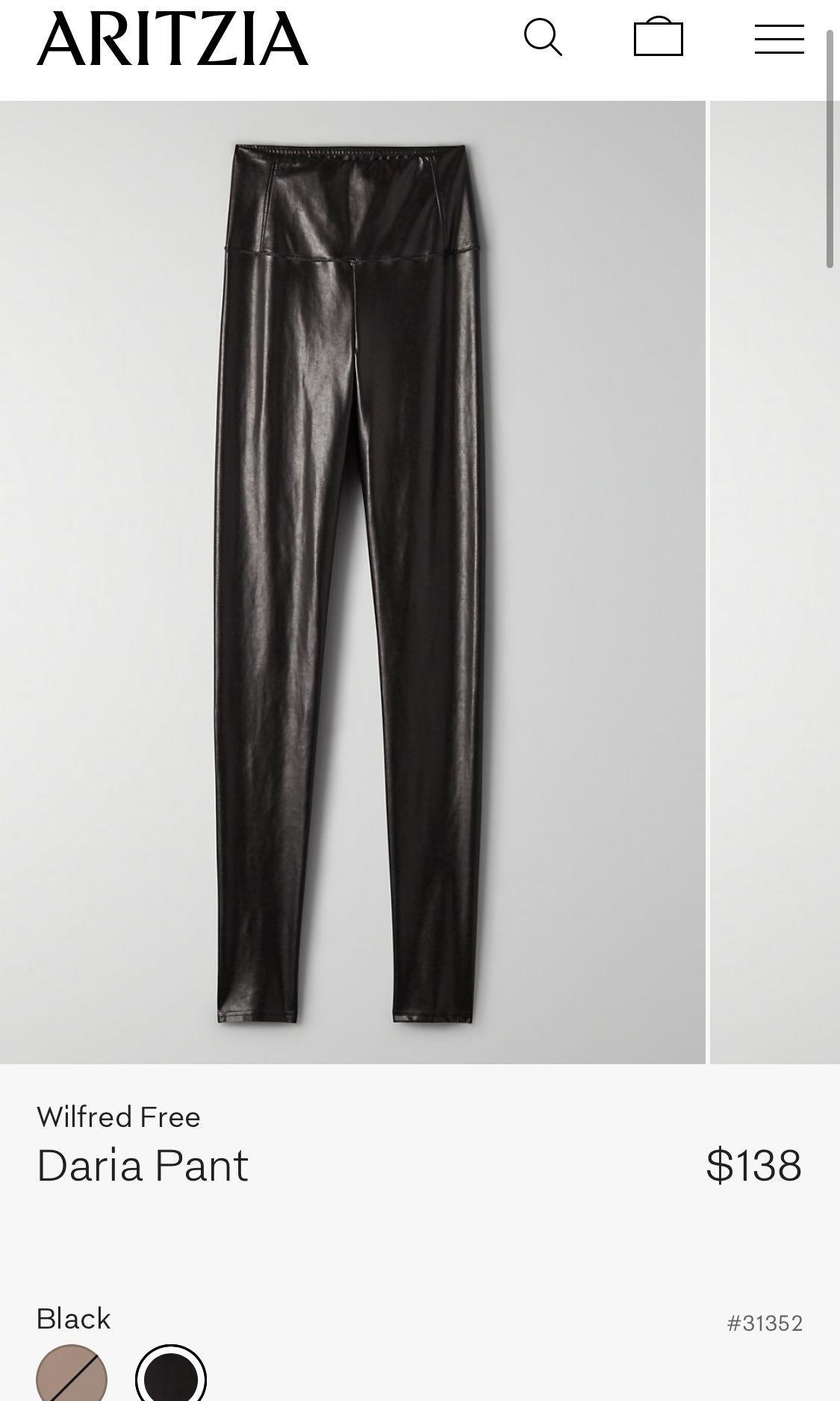 Wilfred Free Daria leather legging Aritzia - black - size small