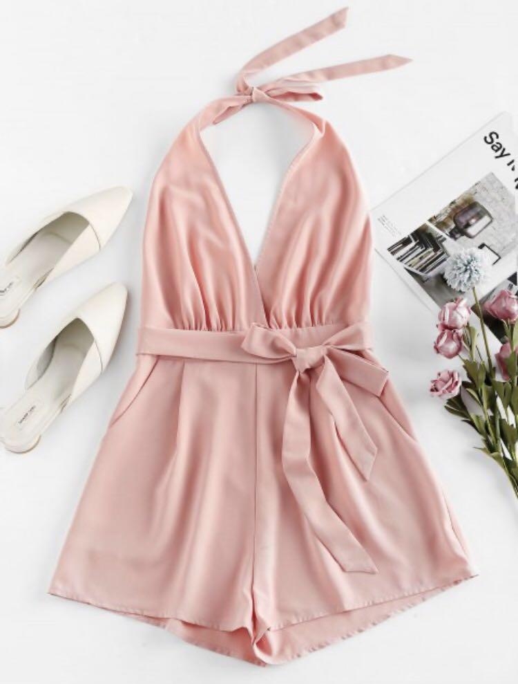 Zaful Pink Romper NEW with tags SIZE SMALL