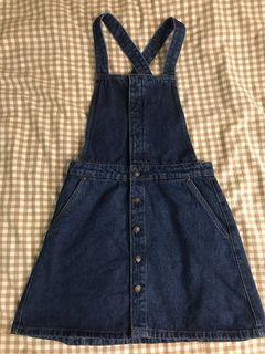100% cotton Zara overall denim dress