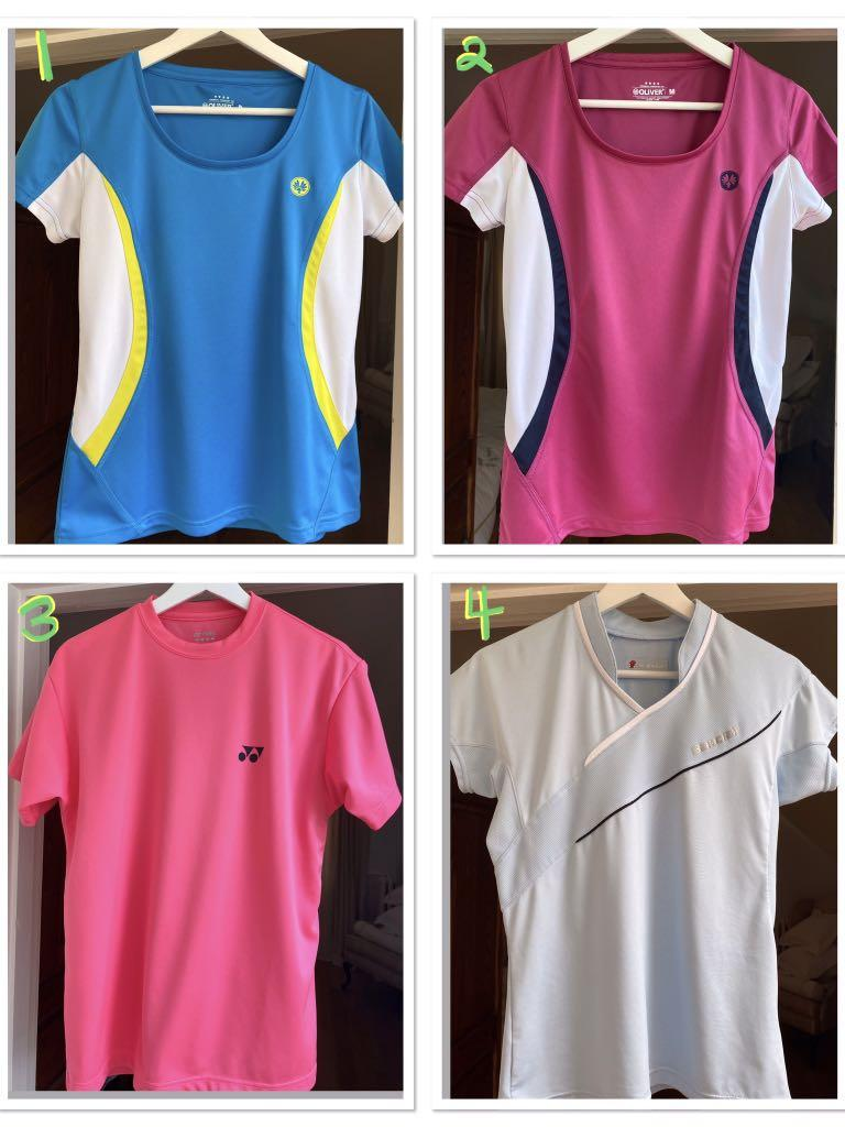 ⭐️4 ladies racquet sport shirts in excellent condition and purchased in Strasbourg,France.⭐️$45 EACH