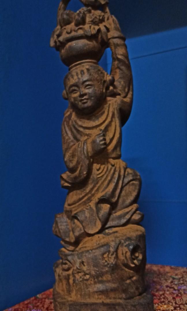 八仙藍采和-沉香木雕擺件