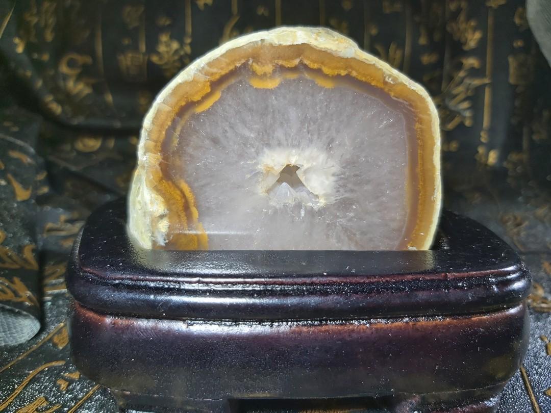 《晶華》瑪瑙晶洞 附專屬底座 01J10