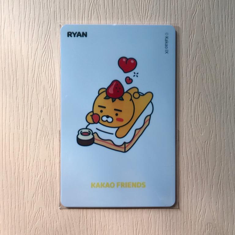 全新 韓國帶回 自製交通卡 kakao friends 萊恩