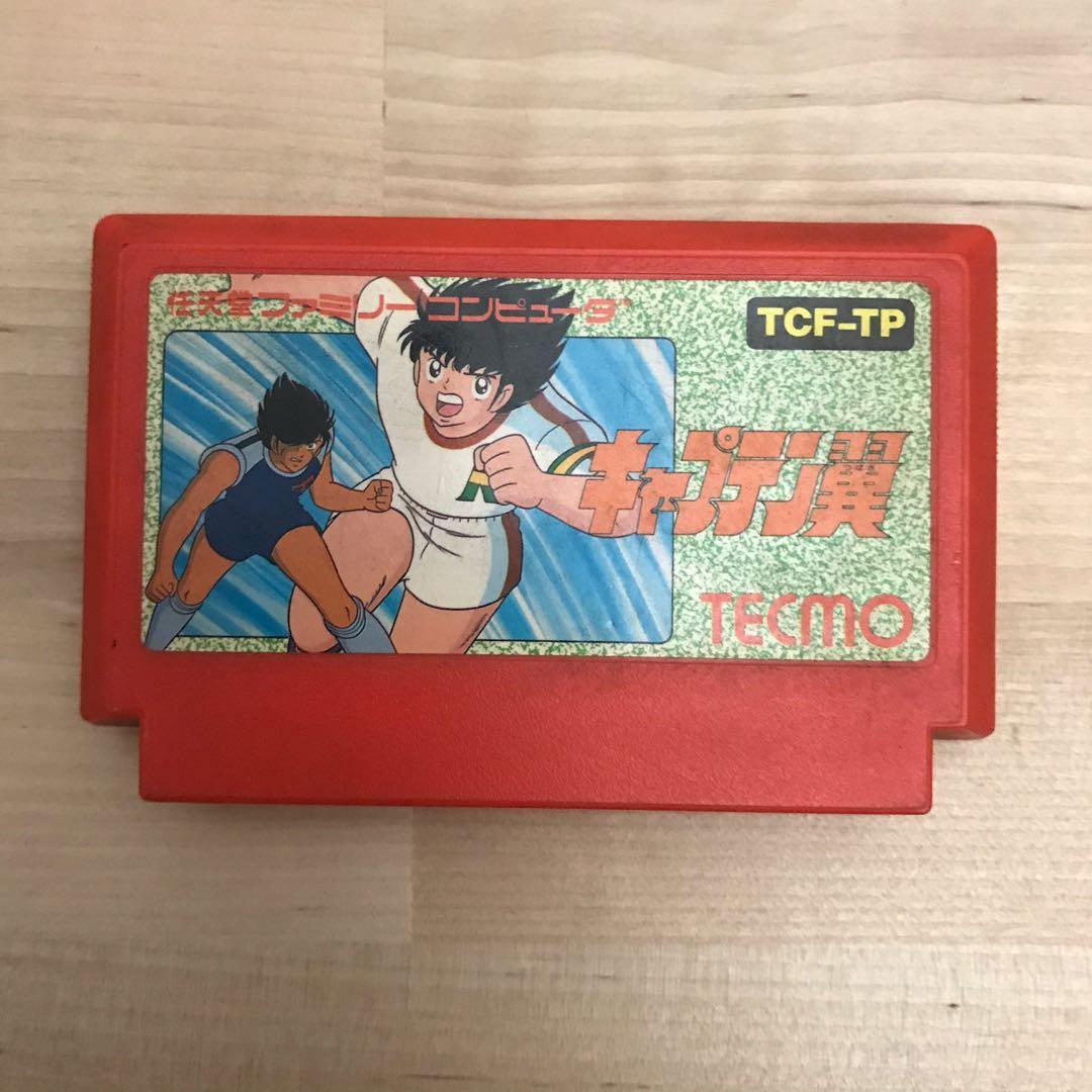 足球小將 翼 任天堂FC遊戲卡帶 第一代絕版品