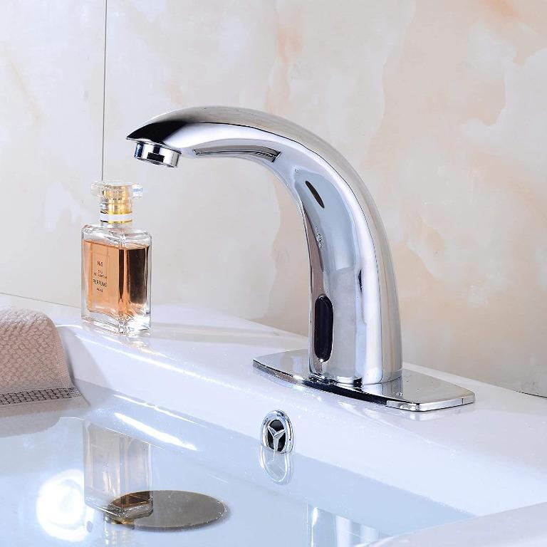 Bathroom Basin Automatic Sensor Faucet Touchless with Water Mixer Valve