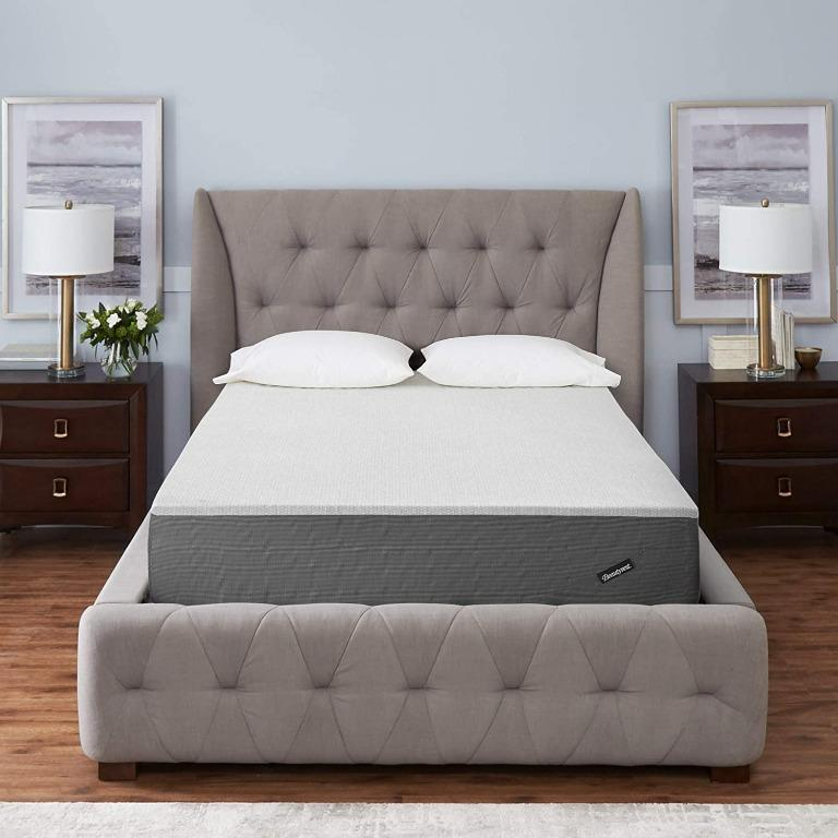"BNIB Beautyrest 12"" Mattress - Plush, Grey, Queen"