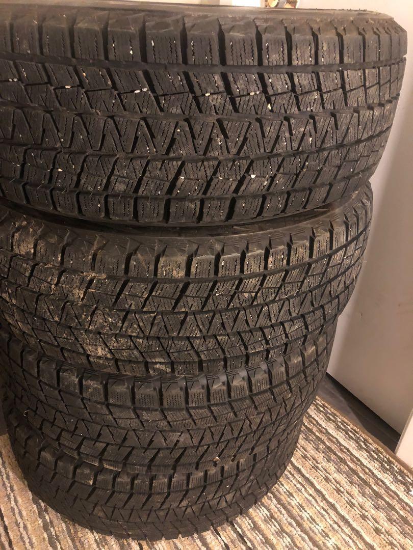 "Bridgestone Blizzak winter tires 19"""