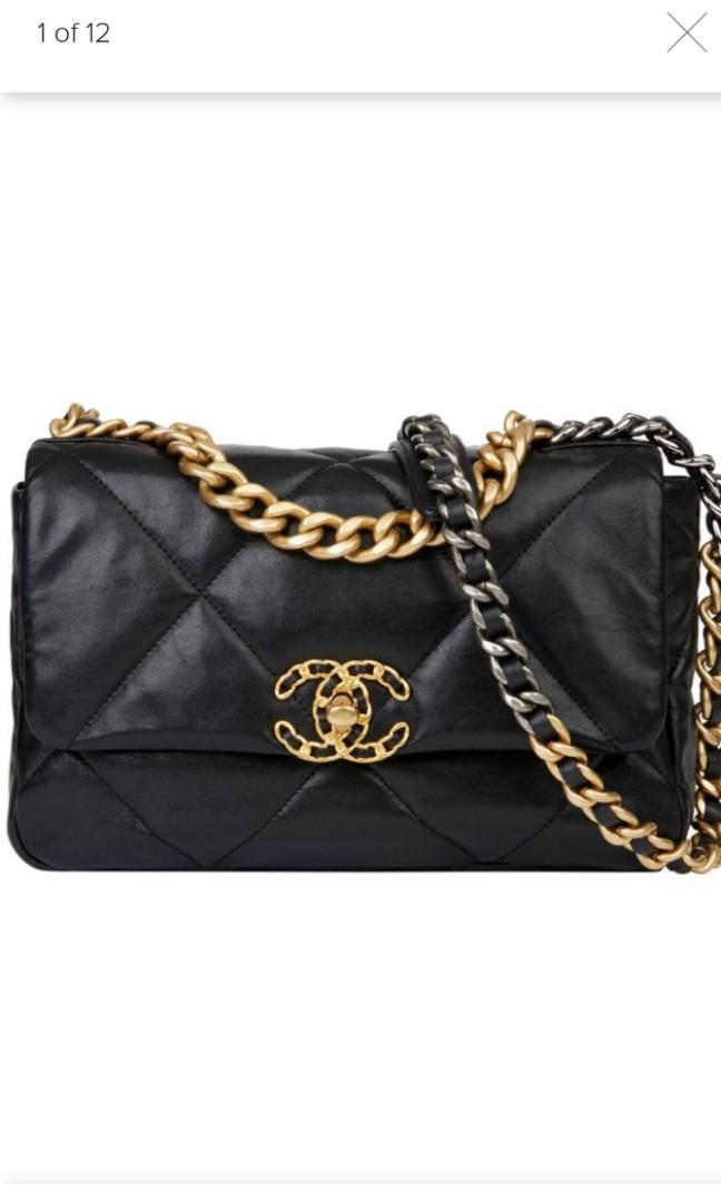 CC flap bag with chain
