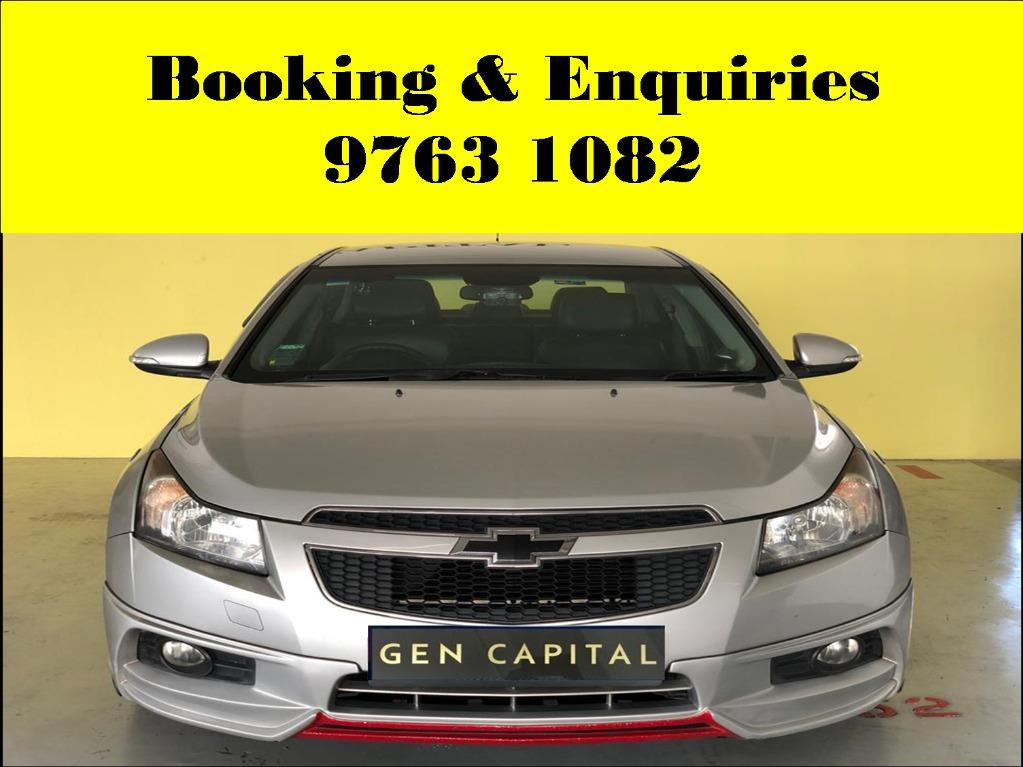 Chevrolet Cruze ! Week - end car for rent ! cheap & budget rental rate ! Deposit @ $500 only ! Whatsapp 9763 1082 to reserve now !