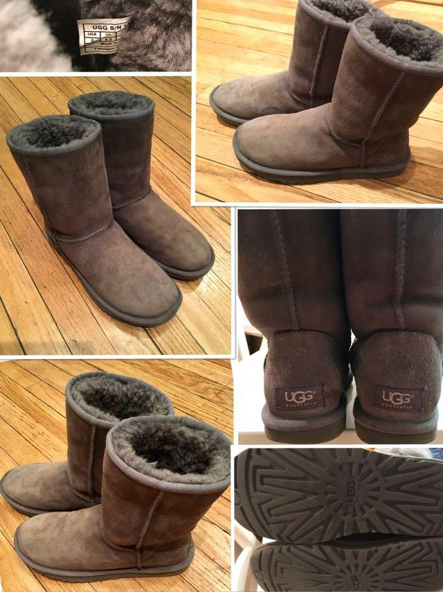 CLASSIC UGGS SHORT II BOOT in Grey size 6