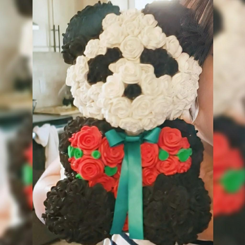 Customized Rose Bear