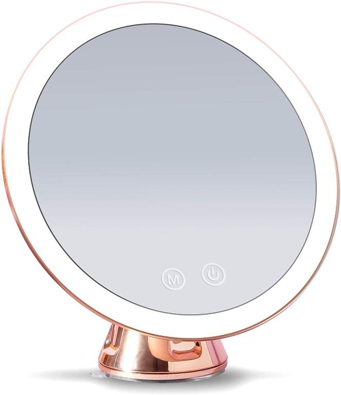 Fancii LED Lighted 10X Magnifying Makeup Mirror, Recharge, Dimmable