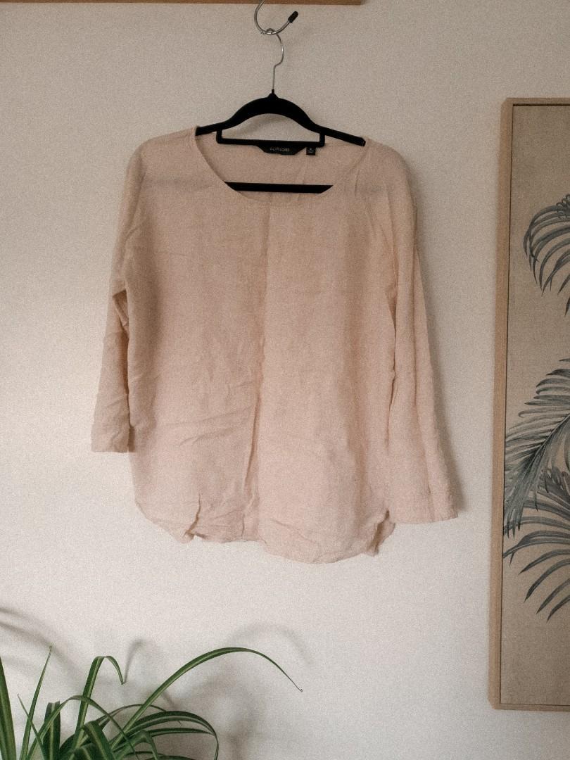 Glassons linen cream shirt