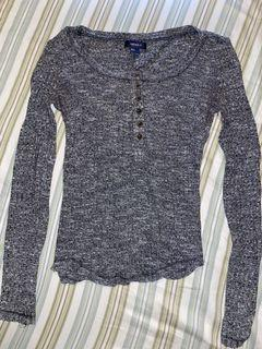 Grey Henley Top Size Small