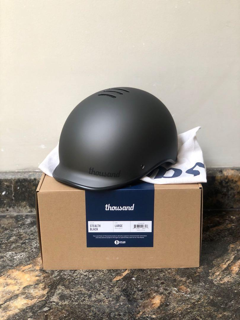 HELM SEPEDA THOUSAND STEALTH BLACK Size L