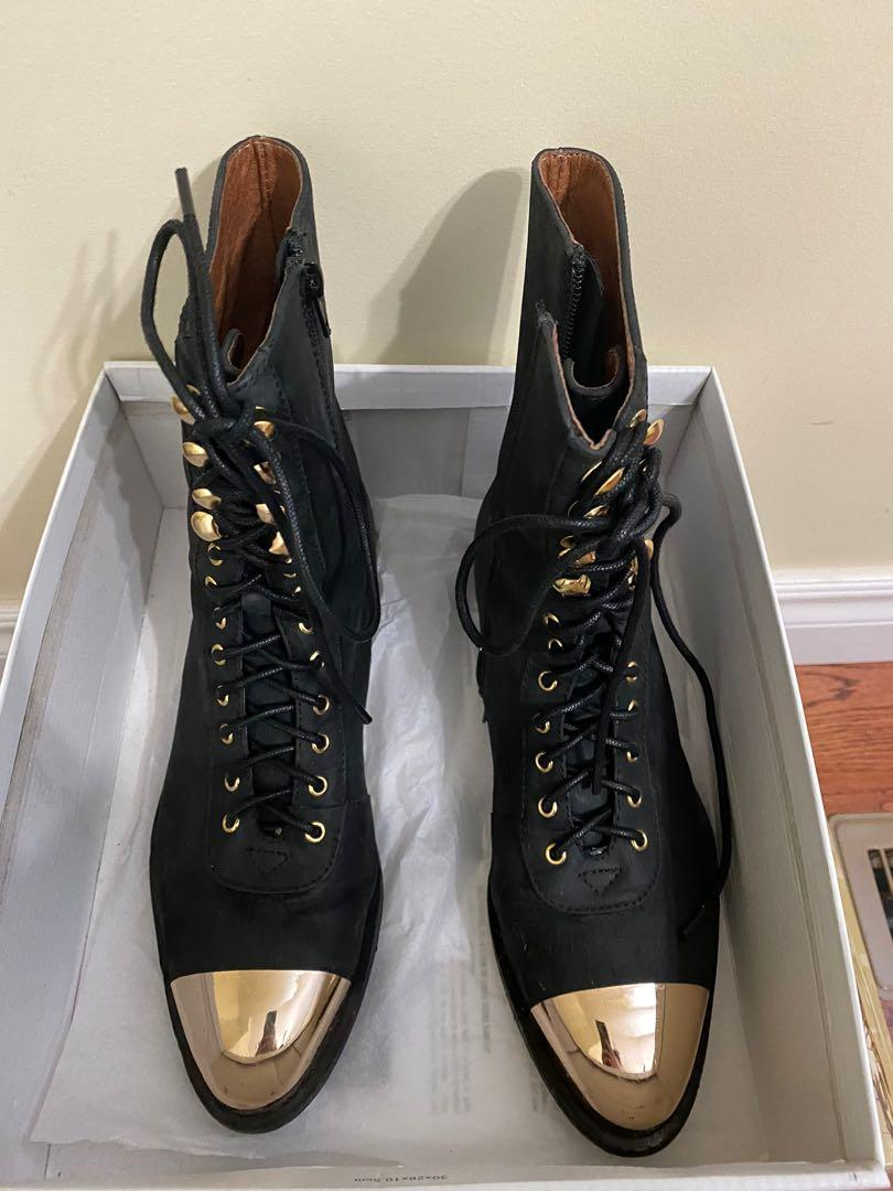 Jeffrey Campbell Gold Toe Boots