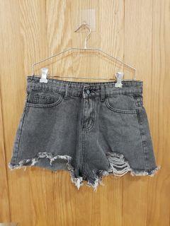 灰刷色牛仔短褲L