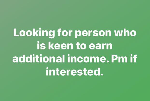 LOOKING FOR INCOME