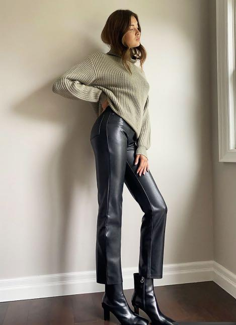 NEW WILFRED MELINA VEGAN LEATHER PANTS. SIZE 0.