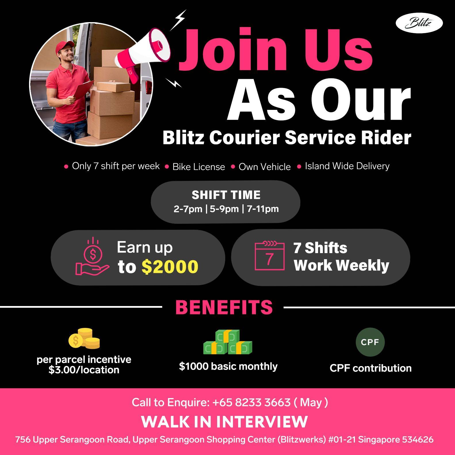 Permanent Part time dispatch rider (Monthly Basic $1000)