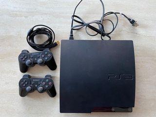 Playstation 3 Slim 160GB system + Controllers