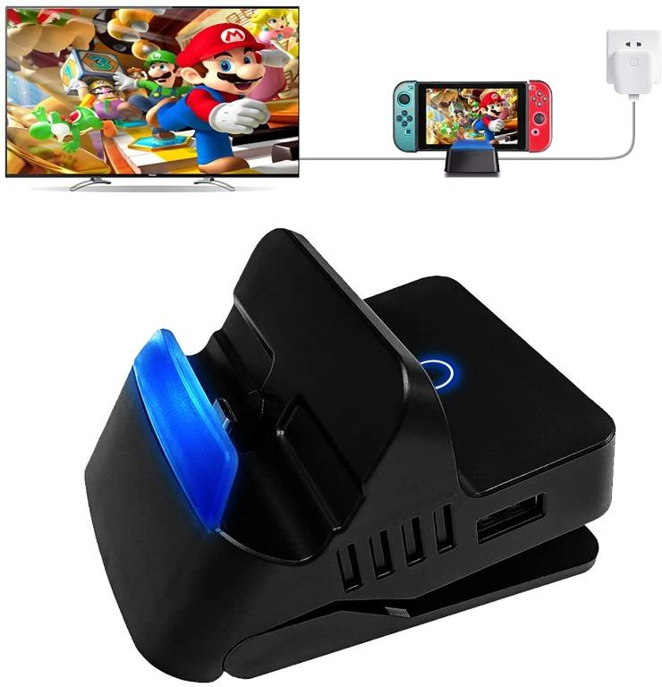 Portable Nintendo Switch Charging Stand, HDMI TV Adapter