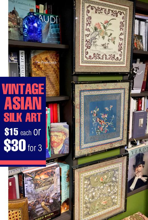 Price Dropped: Vintage Framed Asian Silk Embroidery