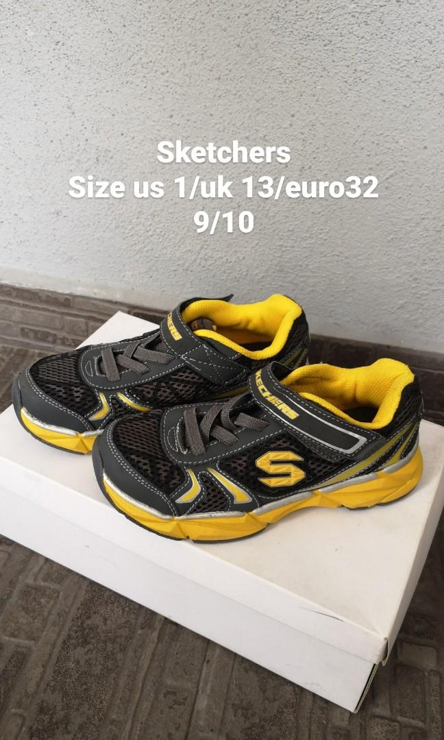 Sketchers shoes for boys size us 1