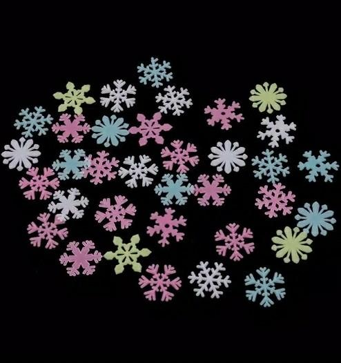 Snow Flakes Glow in The Dark