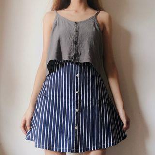 Striped navy skirt