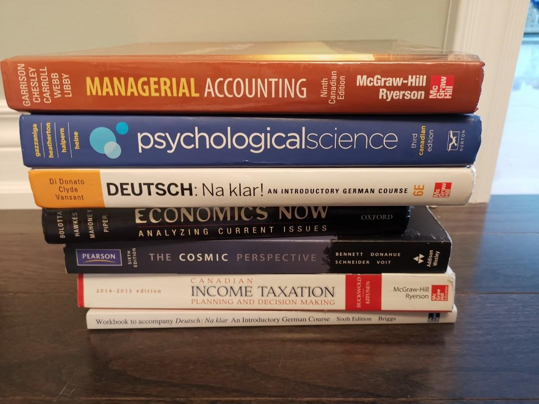 U of T textbooks - Accounting /Tax/Economy/Deutsch/Physics/Linguistics