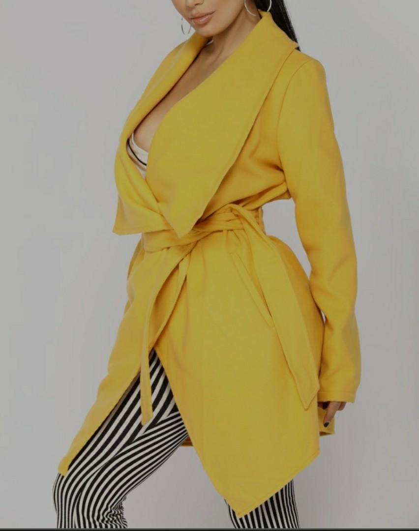 Yellow trench coat small